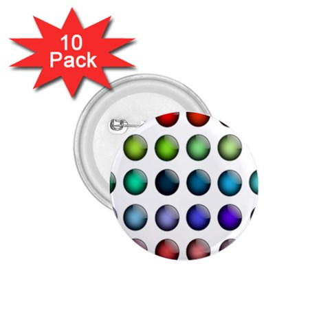 Button Icon About Colorful Shiny 1.75  Buttons (10 pack)
