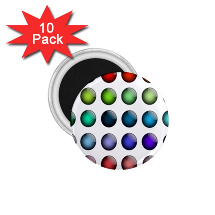 Button Icon About Colorful Shiny 1.75  Magnets (10 pack)