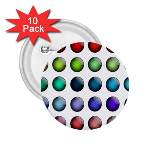 Button Icon About Colorful Shiny 2.25  Buttons (10 pack)