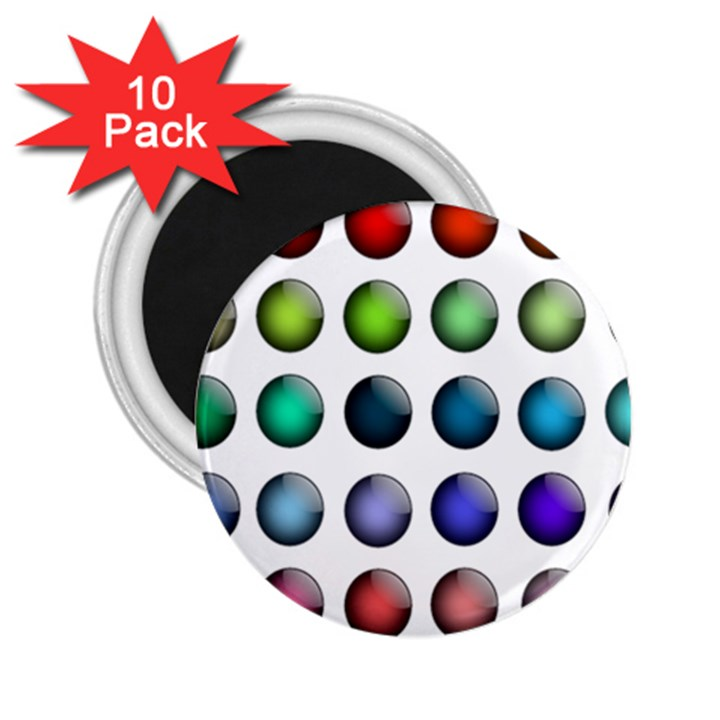 Button Icon About Colorful Shiny 2.25  Magnets (10 pack)