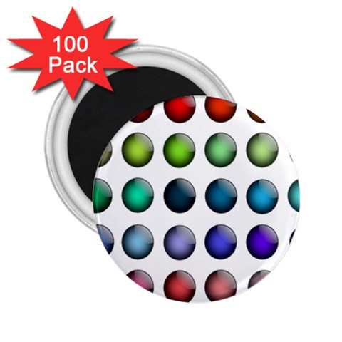 Button Icon About Colorful Shiny 2.25  Magnets (100 pack)