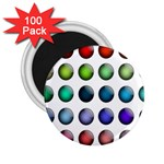Button Icon About Colorful Shiny 2.25  Magnets (100 pack)  Front