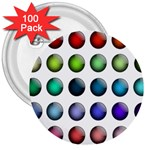 Button Icon About Colorful Shiny 3  Buttons (100 pack)  Front