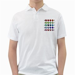 Button Icon About Colorful Shiny Golf Shirts