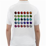Button Icon About Colorful Shiny Golf Shirts Back