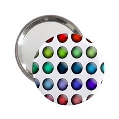 Button Icon About Colorful Shiny 2.25  Handbag Mirrors