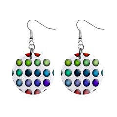 Button Icon About Colorful Shiny Mini Button Earrings