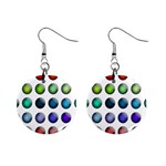 Button Icon About Colorful Shiny Mini Button Earrings Front