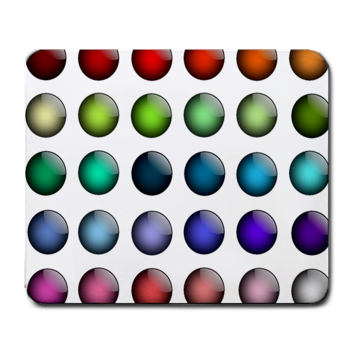 Button Icon About Colorful Shiny Large Mousepads