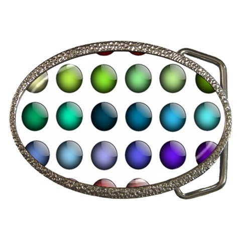 Button Icon About Colorful Shiny Belt Buckles