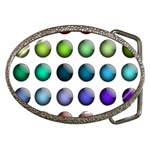 Button Icon About Colorful Shiny Belt Buckles Front