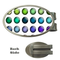 Button Icon About Colorful Shiny Money Clips (Oval)