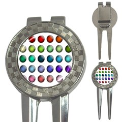 Button Icon About Colorful Shiny 3-in-1 Golf Divots