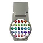 Button Icon About Colorful Shiny Money Clips (Round)  Front
