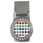 Button Icon About Colorful Shiny Money Clips (CZ)  Front