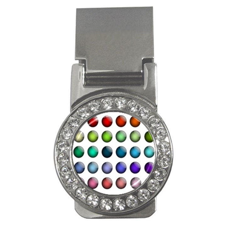 Button Icon About Colorful Shiny Money Clips (CZ)