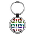 Button Icon About Colorful Shiny Key Chains (Round)  Front