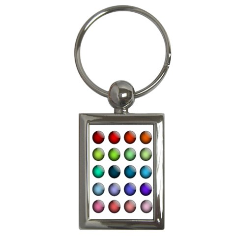 Button Icon About Colorful Shiny Key Chains (Rectangle)