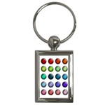 Button Icon About Colorful Shiny Key Chains (Rectangle)  Front