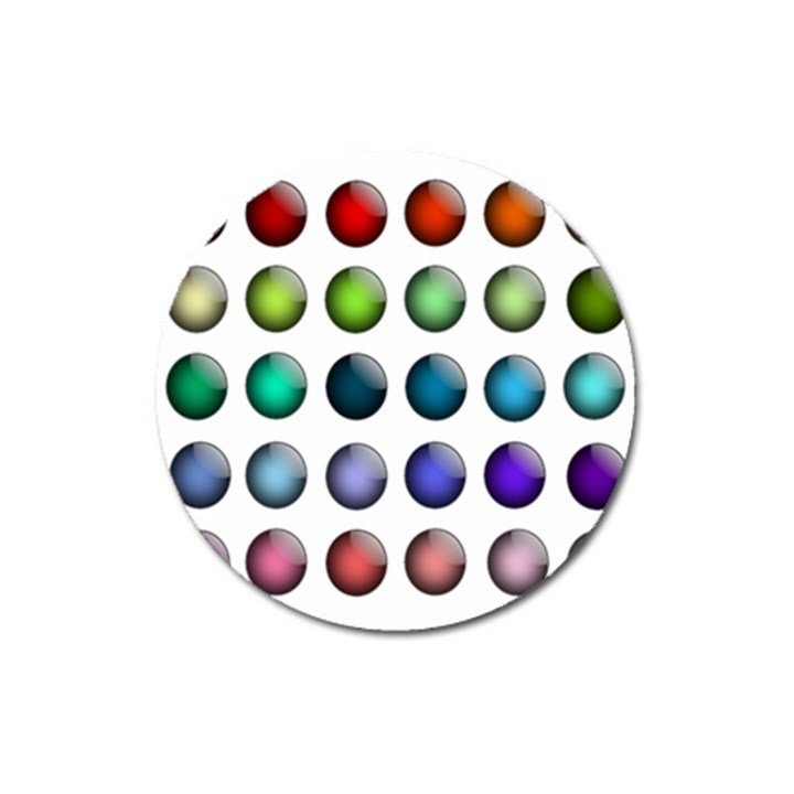Button Icon About Colorful Shiny Magnet 3  (Round)