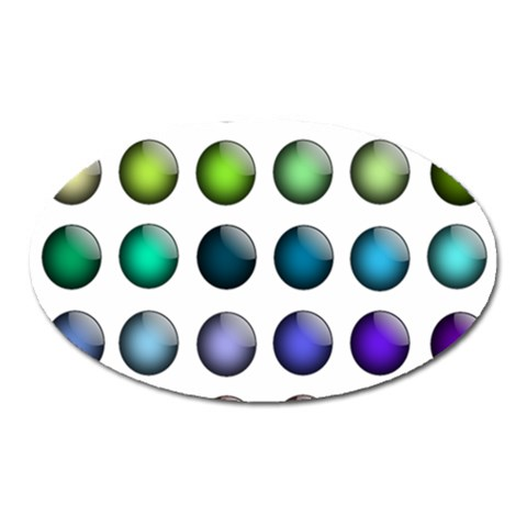 Button Icon About Colorful Shiny Oval Magnet