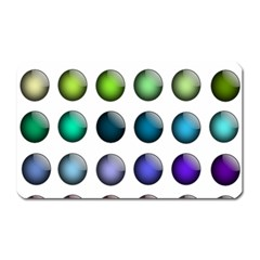 Button Icon About Colorful Shiny Magnet (Rectangular)