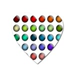Button Icon About Colorful Shiny Heart Magnet Front