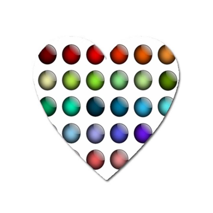 Button Icon About Colorful Shiny Heart Magnet