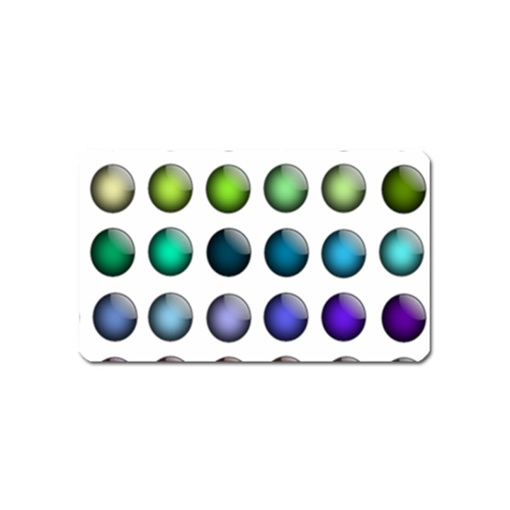 Button Icon About Colorful Shiny Magnet (Name Card)