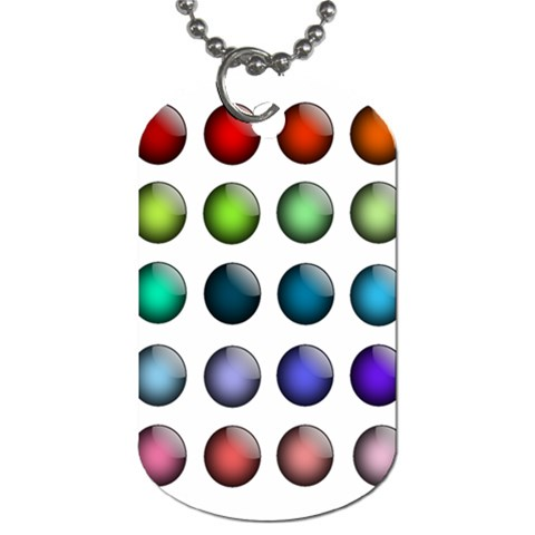 Button Icon About Colorful Shiny Dog Tag (One Side)