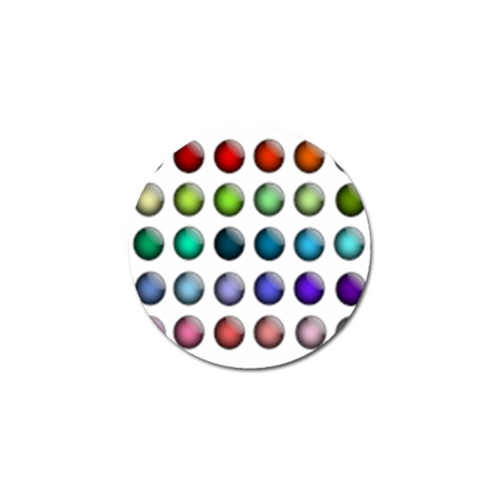 Button Icon About Colorful Shiny Golf Ball Marker