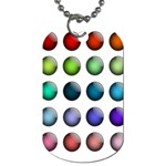 Button Icon About Colorful Shiny Dog Tag (Two Sides) Front