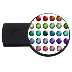 Button Icon About Colorful Shiny USB Flash Drive Round (2 GB)
