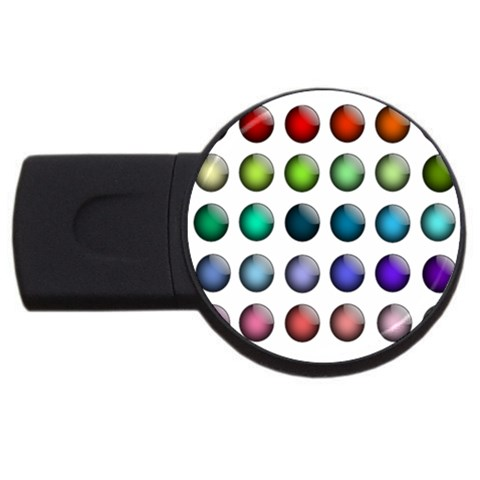Button Icon About Colorful Shiny USB Flash Drive Round (1 GB)
