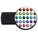 Button Icon About Colorful Shiny USB Flash Drive Round (1 GB)  Front