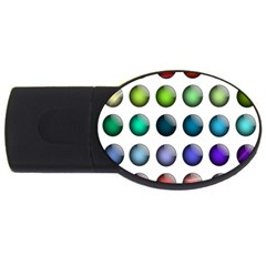 Button Icon About Colorful Shiny USB Flash Drive Oval (1 GB)