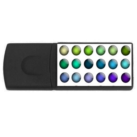 Button Icon About Colorful Shiny USB Flash Drive Rectangular (2 GB)