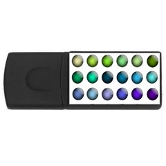 Button Icon About Colorful Shiny USB Flash Drive Rectangular (1 GB)