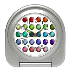 Button Icon About Colorful Shiny Travel Alarm Clocks