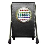 Button Icon About Colorful Shiny Pen Holder Desk Clocks Front