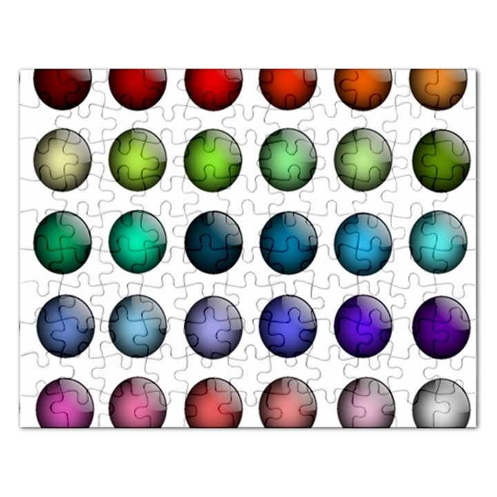 Button Icon About Colorful Shiny Rectangular Jigsaw Puzzl