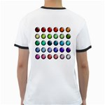 Button Icon About Colorful Shiny Ringer T-Shirts Back