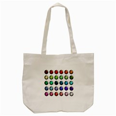 Button Icon About Colorful Shiny Tote Bag (Cream)
