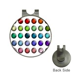 Button Icon About Colorful Shiny Hat Clips with Golf Markers Front