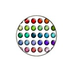 Button Icon About Colorful Shiny Hat Clip Ball Marker Front