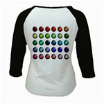 Button Icon About Colorful Shiny Kids Baseball Jerseys Back