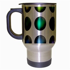 Button Icon About Colorful Shiny Travel Mug (Silver Gray)