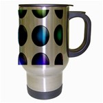 Button Icon About Colorful Shiny Travel Mug (Silver Gray) Right