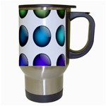 Button Icon About Colorful Shiny Travel Mugs (White) Right