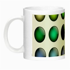 Button Icon About Colorful Shiny Night Luminous Mugs